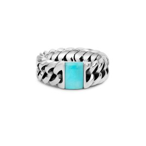 Chain Stone Turquoise ring