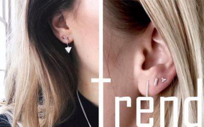 Trend: meerdere oorbellen in één oor