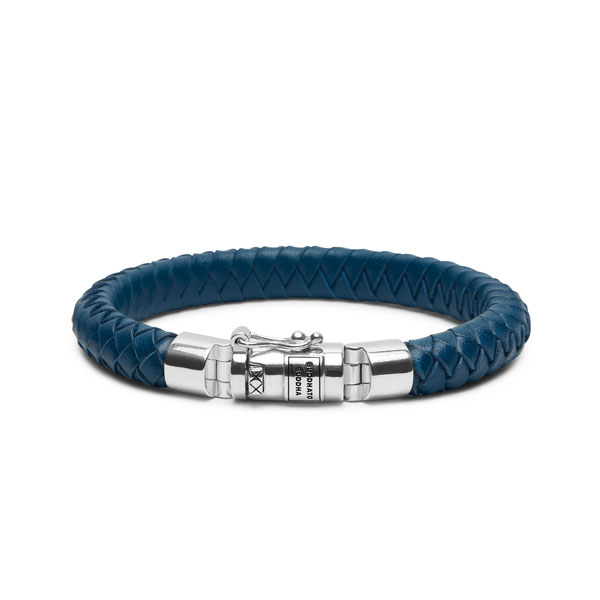 Buddha to Buddha Ben small leather blue - Te koop bij Sparnaaij Juweliers in Aalsmeer en Hoofddorp