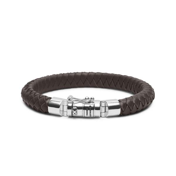 Buddha to Buddha Ben small leather brown armband - Te koop bij Sparnaaij Juweliers in Aalsmeer en Hoofddorp