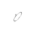 14K gouden BLush ring met in het midden een zirkonia steen - Te koop bij Sparnaaij Juweliers in Aalsmeer en Hoofddorp