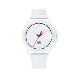 Tommy Hilfiger herenhorloge - Horloge met witte siliconen band en witte wijzerplaat- Te koop bij Sparnaaij Juweliers in Aalsmeer