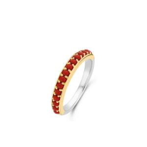Zilver met een geelgouden plating en rode details- Te koop bij Sparnaaij juweliers in Aalsmeer en Hoofddorp