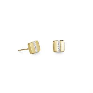 Coeur de Lion - Oorknoppen staal crystal goud verguld - Te koop bij Sparnaaij Juweliers in Hoofddorp