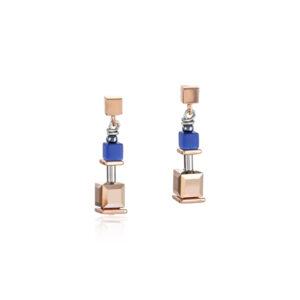 Coeur de Lion oorhangers - blauw en rosekleurig - Te koop bij Sparnaaij Juweliers in Hoofddorp