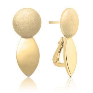 Sparkling Jewels - Oorstekers mat/glans geelgouden plating - Te koop bij Sparnaaij Juweliers in Aalsmeer en Hoofddorp