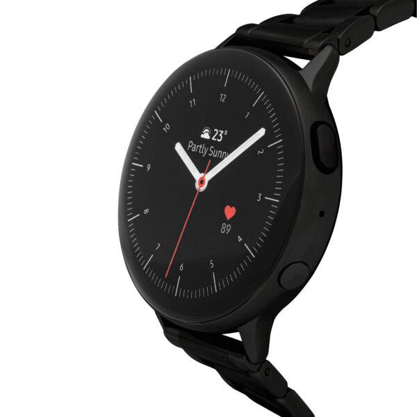 Samsung Active2 smartwatch SA.R820BS - Staal - Schakelband - Zwart - Ø 44 mm