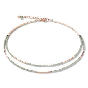 Coeur de lion collier - mintgroen en rosekleurig - Te koop bij Sparnaaij Juweliers in Hoofddorp