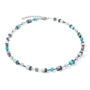 Coeur de Lion collier - Met edelstenen en blauw kristal - Te koop bij Sparnaaij juweliers in Hoofddorp