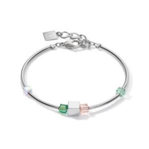 Coeur de Lion armband - hematiet en groen kristal - Te koop bij Sparnaaij Juweliers in Hoofddorp
